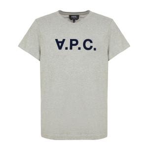 Tee-shirt Gris Clair Chiné Noir
