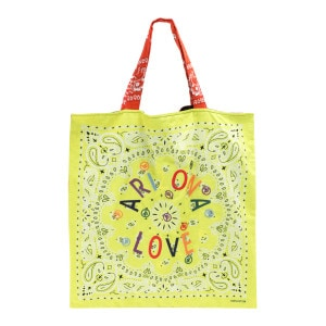 Sac Tote Bag Beach Broderie Jaune