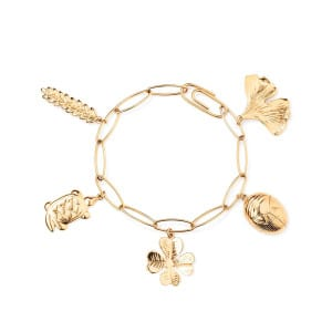 Bracelet Grigri Charms Plaqué Or