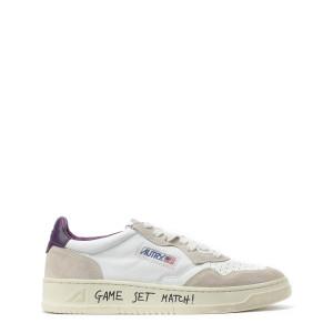 Baskets 01 Low Crack Blanc Violet