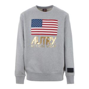 Sweatshirt Flag Gold Club Gris