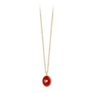 Collier Étoile du Nord Résine Or Diamant