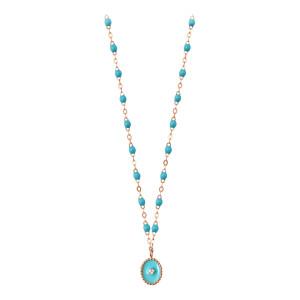Collier Étoile du Nord Perles Résine Or Diamant
