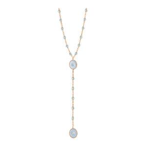 Collier Chapelet Étoile Du Nord Perles Résines Transparentes Or Diamants