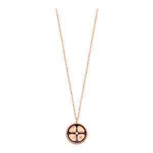 Collier Trèfle Or Rose, Exclusivité Lulli