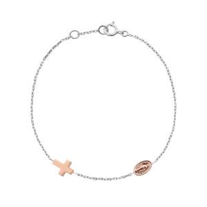 Bracelet Croix Madone Or