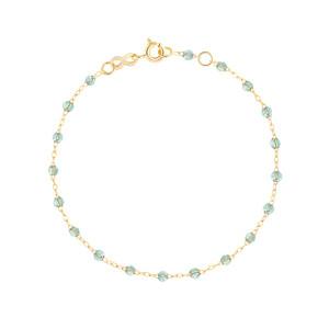 Bracelet Perles Résine Or 17 cm