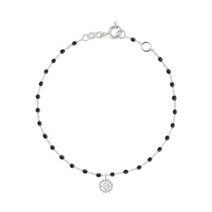 Bracelet Lucky Puce Mini Perles Résine Or Diamant