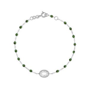 Bracelet Résine L'Œil du Pirate Diamants Or Gris