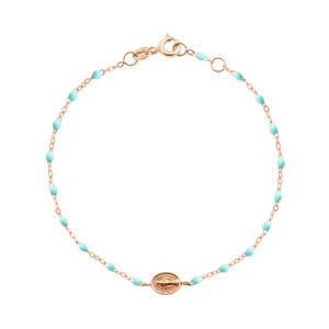 Bracelet Madone Perles Résine Or, Enfant / Bébé