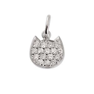 Pendentif Le Chat Or Diamants