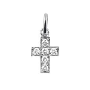 Pendentif Croix Diamants Or