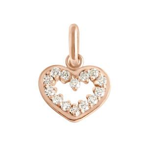 Pendentif Lucky Cœur Suprême Diamants Or Rose