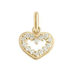 Pendentif Lucky Cœur Suprême Diamants Or Jaune
