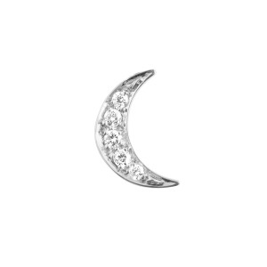 Pendentif Lune Diamants Or