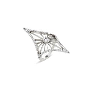 Bague Cheyenne Losange Diamants Or Blanc