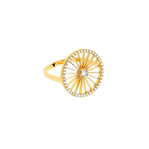 Bague Cheyenne Ronde Diamants Or Jaune