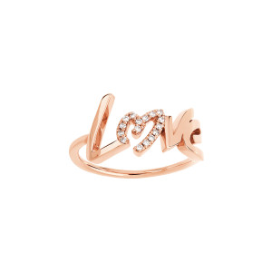 Bague Love O Diamants Or Rose