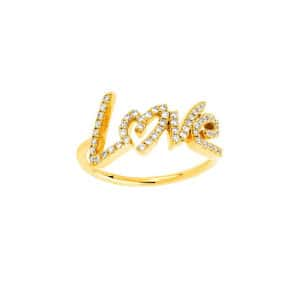 Bague Love Diamants Or Jaune