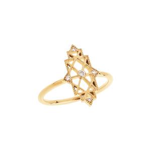 Bague Mini Nour Diamants Or Jaune