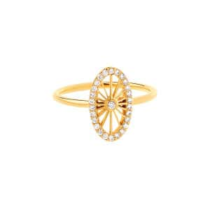 Bague Mini-Cheyenne Ovale Diamants Or Jaune