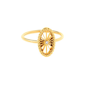 Bague Mini-Cheyenne Ovale Diamant Or Jaune