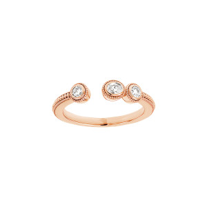 Bague Mini Rio Diamants Or Rose