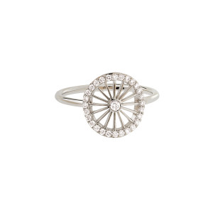 Bague Mini-Cheyenne Ronde Diamants Or Blanc