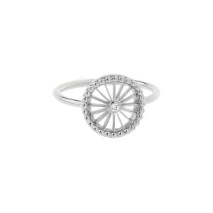 Bague Mini-Cheyenne Ronde Diamant Or Blanc