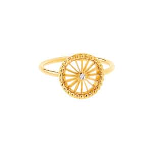 Bague Mini-Cheyenne Ronde Diamant Or Jaune