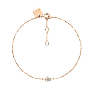 Bracelet Mini Star Diamants Or Rose