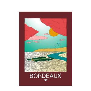 Affiche Bordeaux 30x40cm