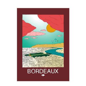 Affiche Bordeaux 50x70cm