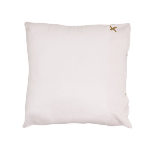 Grand Coussin Hug Lin Shamalo Print Croix Gold 80 x 80
