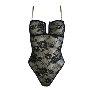 Body Louise Dentelle Lurex Noir