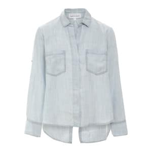 Chemise Split Back Button Down Desert Sky