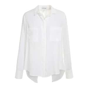Chemise Split Back Button Down Blanc
