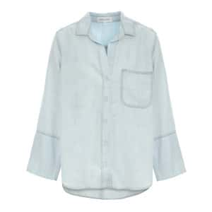 Chemise Tail Button Down Desert Sky Wash