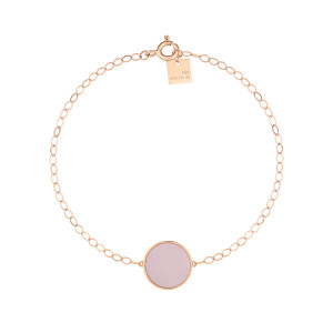 Bracelet Ever Disc Or Rose Nacre Rose