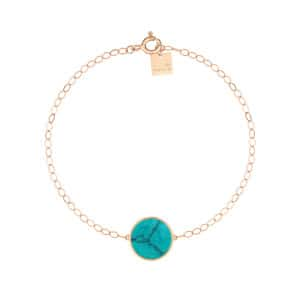 Bracelet Ever Disc Or Rose Turquoise