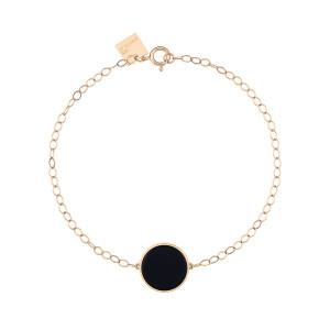 Bracelet Ever Disc Or Rose Onyx