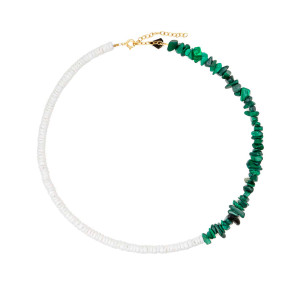 Collier Bigoût Coquillage Malachite