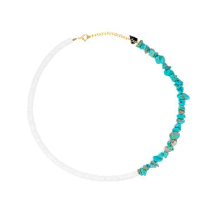 Collier Bigoût Coquillage Turquoise