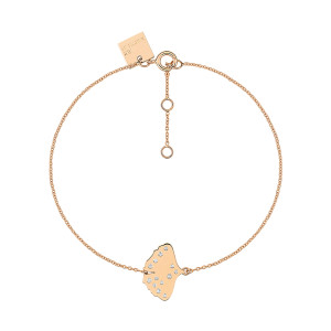 Bracelet Gingko Diamants Or Rose
