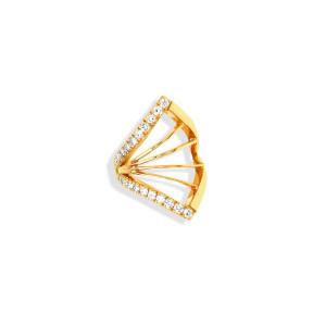 Bijou d'oreille Cheyenne Losange Diamants Or Jaune (vendu à l'unité)