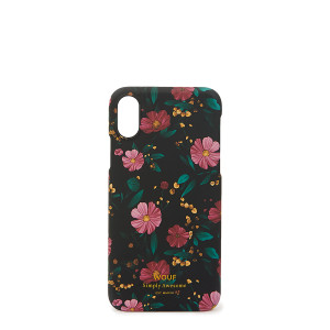 Coque Iphone X Black Flowers
