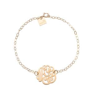 Bracelet Monogramme Baby Lace Or Rose