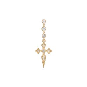 Boucle d'oreille Barrette Blood Diamonds Or Jaune (vendue à l'unité)