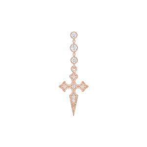 Boucle d'oreille Barrette Blood Diamonds Or Rose (vendue à l'unité)