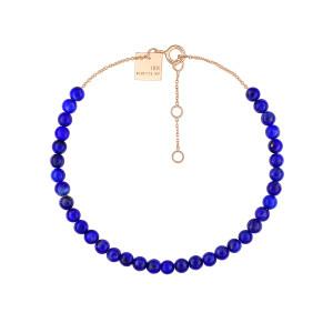 Bracelet Maria Mini Or Rose Lapis Lazuli